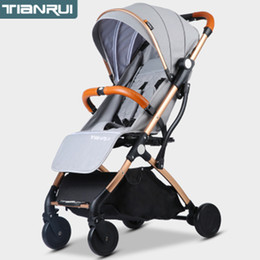 lightweight carriage stroller 2019 - Baby Stroller Trolley Car trolley Folding Baby Carriage 2 in 1 Buggy Lightweight Pram Europe Stroller Original Pushchair