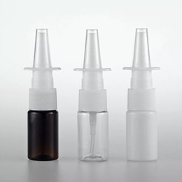 nasal sprays NZ - DHgate Small amber clear white plastic nasal spray bottle 5ml 10ml, cylinder straight mouth plastic fine mist medical nasal spray bottle