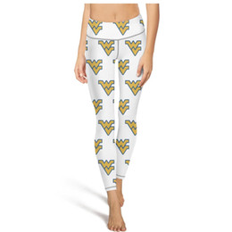 $enCountryForm.capitalKeyWord UK - West Virginia Mountaineers Logo Yoga Pants Womens High waisted Yoga Pants Training yoga leggings Sport comfort fashion Leggings