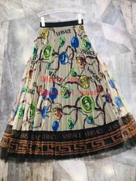Jupe De Mode Élégante Taille Haute Longue Maxi Jupe Vintage Jupe D'été Femme Womens Casual Dames Plissée Longue Jupe en Solde