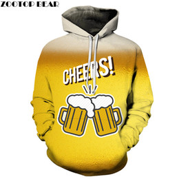 популярное аниме  оптовых-Hot Sell Popular Anime Men Hoodies beer Sweatshirt CHEERS d Pullover Casual Tracksuits Drop Ship Long Sleeve ZOOTOPBEAR