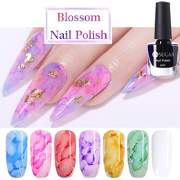 Wholesale UR SUGAR ML Watercolor Nail Polish Blooming DIY Nail Gel Decoration Salon Set Smoke Effect Bubble Varnish Nails Accessories