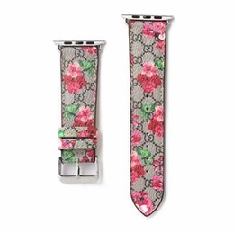 Wholesale Luxury Apple Watch Band 38mm 40mm 42mm 44mm Strap Brand Bee Snake Flower Designer Adjustable Fashion Iwatch Band For Apple Watch54321 A05