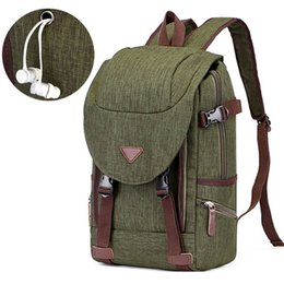 New Fashion Rucksack Man Vintage Canvas Backpack College School Bags For  Teenager Boy Girls Schulrucksack With Headphone Jack 0dd7fbe8cacdc