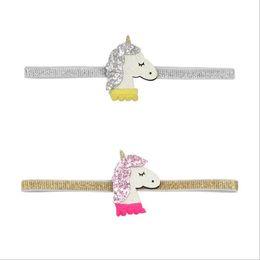 $enCountryForm.capitalKeyWord Australia - unicorn hair bows for kids fashion sequins designer hairbands for babies leather hot sale unicorn headbands children cute hair accessories