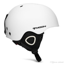 MOON Outdoor Integrated Skiing Helmet with Adjustable Strap Air Vent for Cycling SkatingMade of the premium material, on Sale