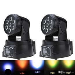 RGBW LED Luz de Palco 9/14 Canal Festa Disco Mostrar 100W AC 100-240V sonora Ativa Decorações do Natal DMX-512 Mini Moving Head em Promoção