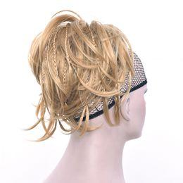 Synthetic hair braided headband online shopping - Synthetic Hair Hairband Black Scrunchie Hair Bun Chignon High Temperature Fiber Braid Hair Donut Roller Headband