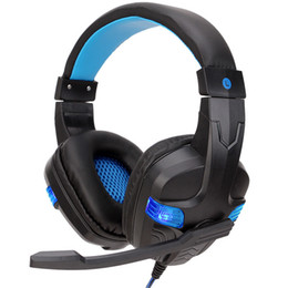 black computer game Australia - Pop2019 Spot Supplies Crown Song Pc860 Head Wearing Type Computer Games 3.5mm Luminescence Background Headset