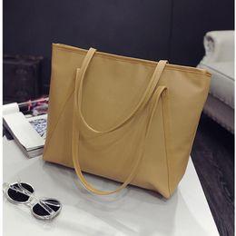 Cheap Handbag Bags Tote Canada - Cheap Fashion Large Capacity Shoulder Bags Female Fashion Women Handbag Pu Leather Casual Tote For Girls Sac