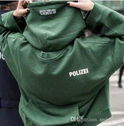 hiphop streetwear roupas urbanas kpop roupas kanye west caixa logotipo hoodie 3in 1 Vetements polizei torcidas hoodies reversíveis top em Promoção
