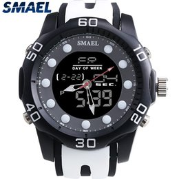 sport gray NZ - SMAEL Aolly Waterproof Male Clocks Dual Digital Display Watch Outdoor Sports LED Display Mens Watch Hot Selling Gray 1112