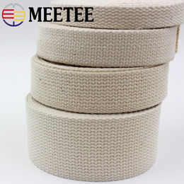 Color Diy Painting Australia - Meetee Cotton Webbing 20 25 32 38 50mm Natural Color Cotton Ribbon for Bag Strap Belt DIY Sewing Clothing Home Decor Craft