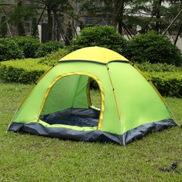 Outdoor Water Resistant Large Tent Quick Open Automatic Instant Setup Two  Doors 3   4 Person Family Camping Tent For Beach Travel+Canopy