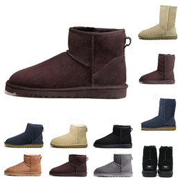 $enCountryForm.capitalKeyWord Australia - With Box New WGG designer Australia women classic snow boots ankle short bow fur boot for winter grey navy women shoes free shipping
