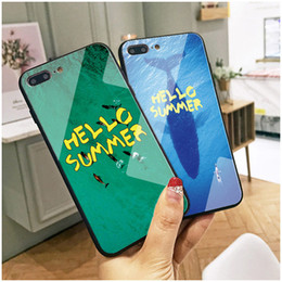 Iphone 6s Case Men NZ - Hello Summer Green Blue Cell Phone Case for iPhone XS MAX XR 6s 7 8 Plus Mobile Phone Cases Men Couples for huawei p20 pro