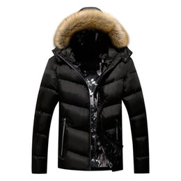 cotton hoods NZ - KIMSERE Men Winter Warm Jackets And Coats With Fur Hood Cotton Lined Thick Thermal Overcoat Windbreaker Outerwear Size L-5XL