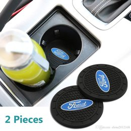 Ford mondeo car online shopping - 2 inch Car Interior Accessories Anti Slip Cup Mat for Ford Focus kuga Fusion Mondeo Fiesta Transit Mustang Ranger F150 F250 F350