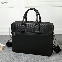 leather computer bags men Australia - high quality woven leather men bag men briefcase luxury designer laptop bags 14 Inch Computer Bags