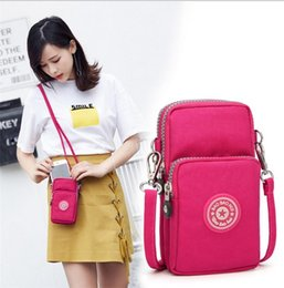 China 2019 Crossbody Phone Case with lanyard Shoulder Storage Bag Pouch Purse Case Wrist Belt Handbag Portable Zipper Wallet for iphone samsung suppliers