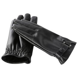 Casual Leather Gloves Australia - MUQGEW NEW Arrival Men's Casual Winter Outdoor Sports Riding Gloves Warm Windproof Leather Mittens men's gloves guantes ciclismo