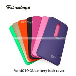Lg G3 Back Cases Australia - Battery Back Cover Door Housing Case For Motorola Moto G3 3rd 3Gen XT1540 Full Back Cover Rear Case Replacement Cellphone