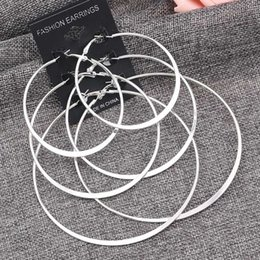 circle shape earrings Canada - Fashion Ladies Earrings Circle Shaped Earrings Gold Silver 3 Pairs   Set of Retro Women Round Trendy Alloy HJUEY