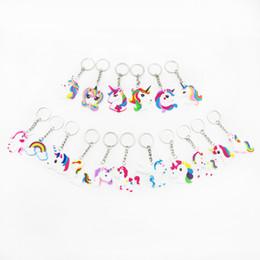 $enCountryForm.capitalKeyWord Australia - Unicorn Keychain Keyring Cellphone Charms Handbag Pendant Kids Gift Toys Phone Decoration Accessory Horse Key Ring WCW479