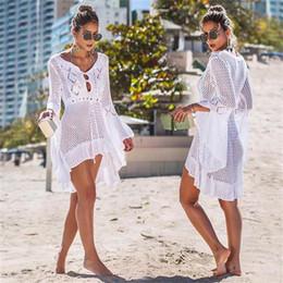 $enCountryForm.capitalKeyWord Australia - Knitting Beach Dress 2019 Sexy Cover Up Bikini Women Swimsuit Long Pareos Swim Wear Beachwear Robe Plage Bathing Suit Tunic Robe