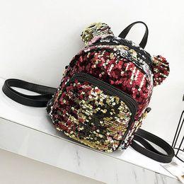Glitter Pom NZ - 2019 Fashion Women Backpack Sequins Glitter Bling School Travel Rucksack Shoulder Storage Bag Satchel Lovely Crossbody Bag