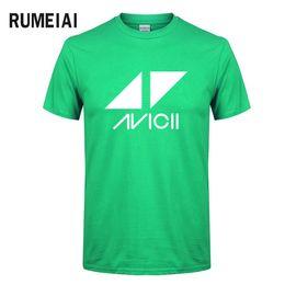 mens clubbing clothes 2019 - mens designer clothes brand polo Avicii DJ Logo Summer T-shirt Men Cotton Short Sleeve Print Fans Club Casual HipHop T S
