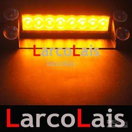 Ingrosso LarcoLais 8 LED Lampade stroboscopiche ad alta potenza Fireman Lampeggiante Emergenza Warning Fire Car Truck Luce del motore