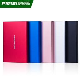 "portable hard drive 2019 - PIRISI P616I 2.5"" HDD External Hard Drive 250GB,320GB Storage Shockproof Portable Hard Disk Metal Silm 5 Color disc"