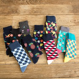 Crazy prints online shopping - PEONFLY Men s Colorful Combed Cotton Socks Gradient Funny Casual Mid Calf Crew Socks Crazy Dress Socks for Gifts US