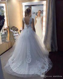 $enCountryForm.capitalKeyWord Australia - White A Line Beach Wedding Dress Sexy Backless Lace Country Wedding Dresses Cheap Floor Length Wedding Gowns Vintage Berta Bridal Plus Size