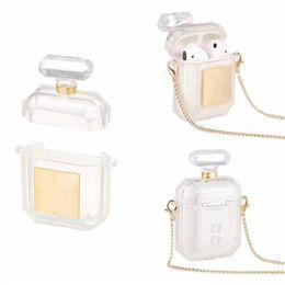 venda por atacado Caso designer de Frasco de perfume de alta qualidade com anti-perdeu Fivela para a Apple Airpods 1/2 Airpods Pro duas cores opcional com pacote de varejo