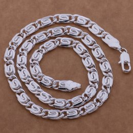 Silver Chains Design Australia - High quality 925 sterling silver plated chain necklace 6MMX20 Cool design men's fashion jewelry free shipping-P