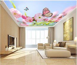 Peaches Fiber Australia - 3d ceiling murals wallpaper custom photo Beautiful peach flower background living room home decor 3d wall murals wallpaper for walls 3 d