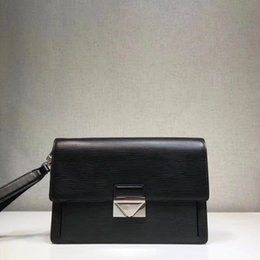 Business Hand Bags Australia - 2019 men's new clutch bag. Water ripple leather business casual handbag. With removable leather hand strap.