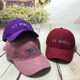 f755faff18c Astroworld Letter Corduroy Embroidery Baseball Cap Snapback Hat Fashion  Winter Casual Sports Women Men Caps PPA172