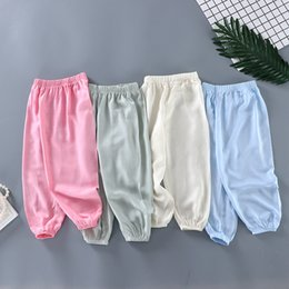 Air Pants Australia - Summer 2009 New Fashion Boys and Girls Silk Lanterns Baby Mosquito-proof Pants Home Clothing Air-conditioning Pants