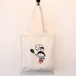 Multi Color Ladies Handbags Australia - Original Customize Cartoon Print Ladies Tote Bag Solid Color White Black Pink Shoulder Bag Canvas Durable Multi Function Handbag