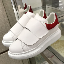 $enCountryForm.capitalKeyWord Australia - 2019 New White Tennis Women Shoes 2 Buckle Hook & Loop Woman Sneakers Genuine Leather Patchwork Woman Casual Shoes Top Quality