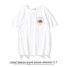 cheap shorts half shirts NZ - T-shirt 20SS Men high quality Cheap cat mushroom Alien Cotton Short sleeve fashion Crew neck Leisure Half sleeve The New