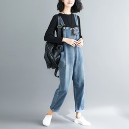 a38585b1153 Plus size women susPender Pants online shopping - Baggy Jean Jumpsuit Women  Plus Size Big Pockets