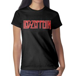 526ac2677 Led Zeppelin logo red Woman Top Retro Sports Bulk T Shirt Design Round Neck  Shirts Wonder Woman T Shirt