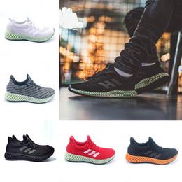 d6de41066887 New Futurecraft 4D Runner Running Shoes For Men Women Ash Green Triple Black  White Silver Mens Designer Trainer Sport Sneaker Size 6.5-12