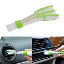 Carro-styling ferramentas de limpeza Acessórios de Carro Condicionador de Ar Ventilação Fenda Limpa Pincel Instrumentação Poeira Estores Escova De Limpeza venda por atacado
