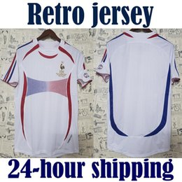 ea1199acc13 2006 Retro Soccer Jersey ZIDANE Henry Trezeguet Vieira Ribery 06 world cup  France Vintage Football Shirts Maillot de Foot top quality