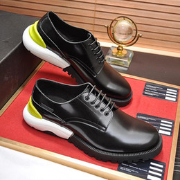 shoes for men leather classic NZ - Fashion Classic Derby Shoes Mens Shoes Chaussures pour homme Dress For Male Wedding Formal Flats Round Toe Lacing Office Work Shoes